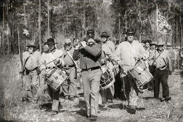 Marching Band, Olustee Civil War Reenactment, Olustee, Florida