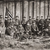 Group photograph of Union Officers, Olustee Civil War Reenactment, Olustee, Florida