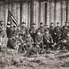 Group photograph of Union Officers, Olustee Civil War Reenactment, Olustee, Florida