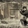 Union Soldier firing a rifle, Olustee Civil War Reenactment, Olustee, Florida