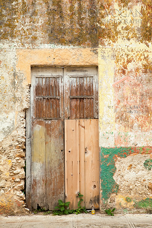 Painted Wall, Merida, Yucatan, Mexico