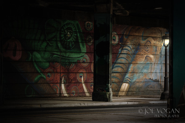 Wall Art near Philadelphia Zoo, Pennsylvania