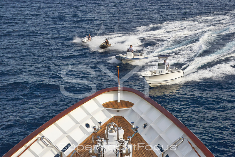 Yacht bow and watersports