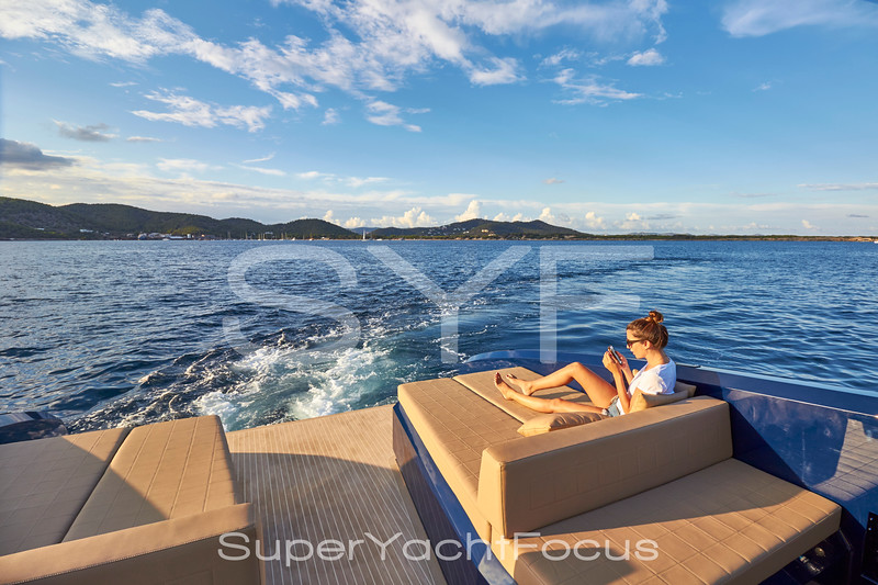 Girl on aft deck with mobile phone