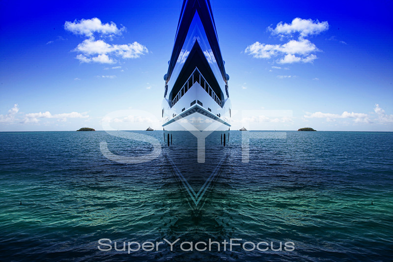 Abstract superyacht