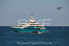 Superyacht Sunrays with helicopter