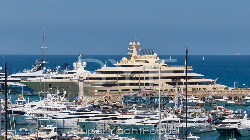 The 156m Dilbar in Antibes