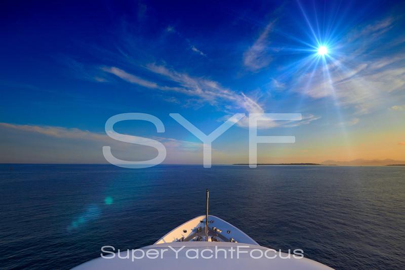 Superyacht bow
