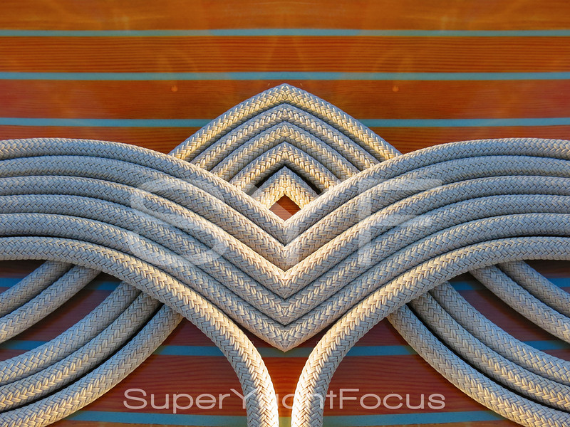 Abstract coiled rope