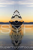 Creative superyacht at sunset