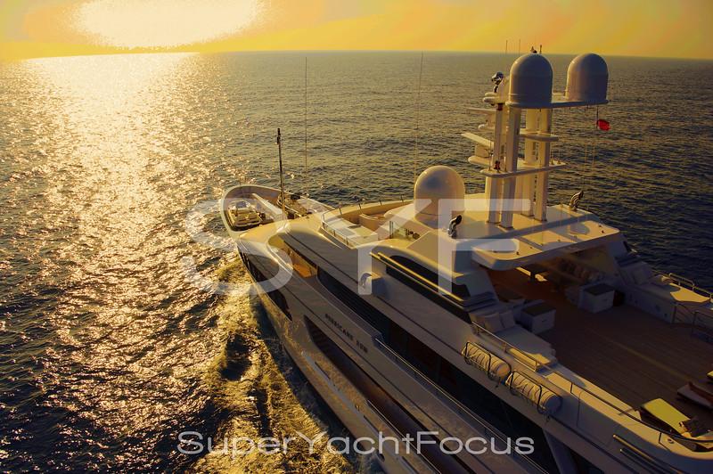 Superyacht sunset