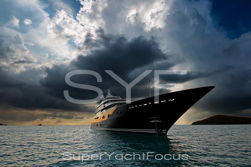Stormy megayacht