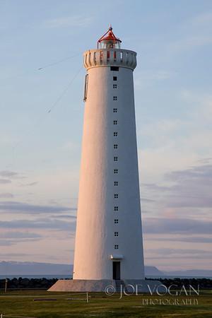 Lighthouse on Gardskagi, Reykjanes Peninsula, Iceland