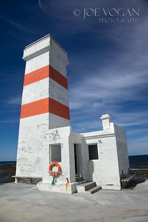Lighthouse on Gardskagi, Reykjanes Peninsula, Iceland, 1897, made inactive in 1944