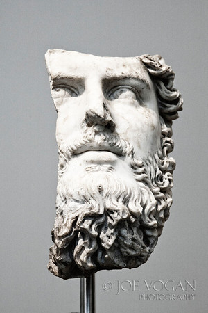 Marble Portrait of the Roman co-emperor Lucius Verus, Marble (circa 161-169 AD)