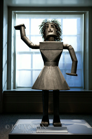 Marla Sculpture cut, soldered, and riveted galvanized iron, by Irving Dominick, 1982