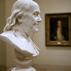 Bust of Benjamin Franklin,  marble, Jean-Antoine Houdon, French, 1779
