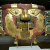 Funerary Mask (circa 10th-11th AD), Gold, copper overlays.  From Peru.