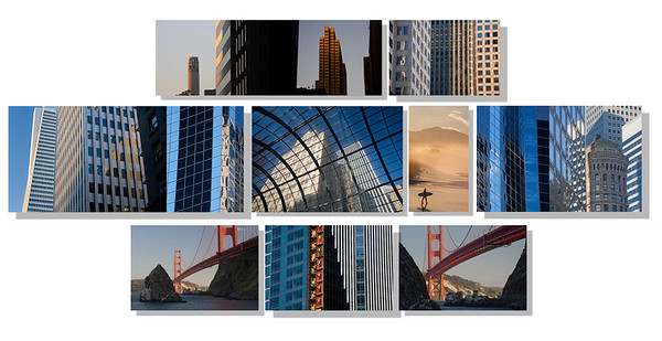"San Francisco Fortune;    84""x40"" on 9 aluminum panels"