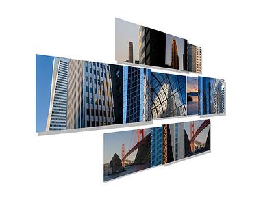"San Francisco Fortune;   84""x40"" on 9 aluminum panels"