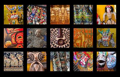 Folk Art Faces, Santa Fe
