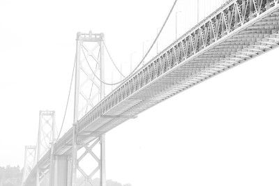 Bay Bridge High Key 0923bw