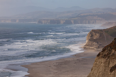 San Gregorio Beach Cliffs 3566