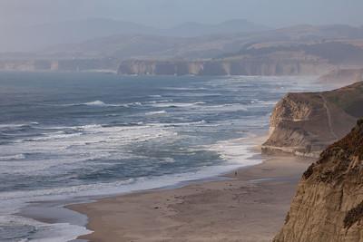 San Gregorio Beach Cliffs 3566