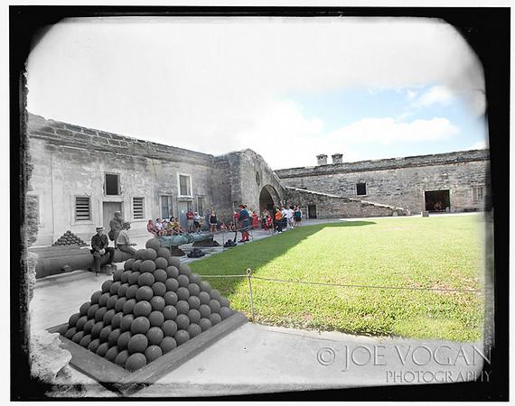 Castillo de San Marcos (circa 1895-1910 and 2010)