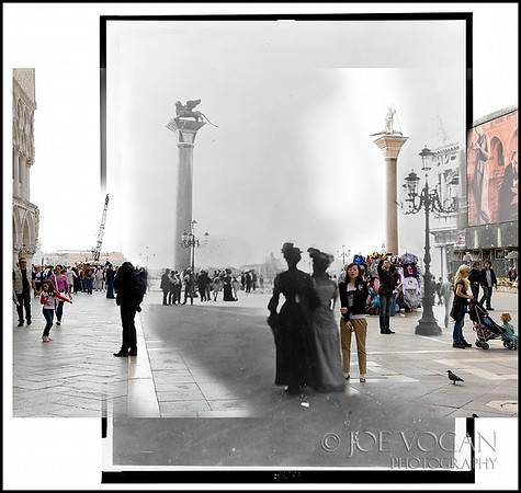 Columns of St. Marks Piazzetto (circa 1902 and 2011)