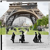 Eiffel Tower, Paris, France (1900 and 2015).
