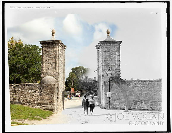 Old City Gate (Circa 1900 and 2010), St. Augustine, Florida
