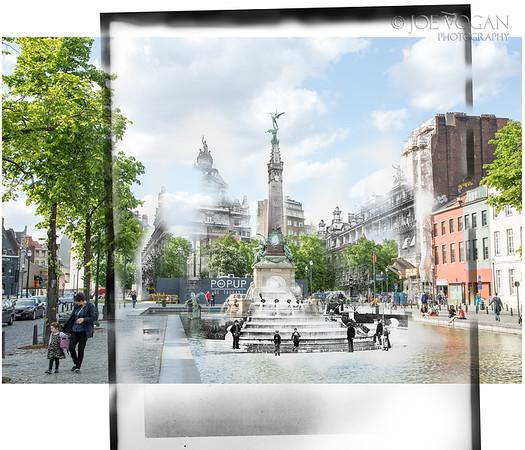 Orespach Monument, Brussels Belgium (circa 1916 and 2015)