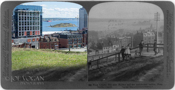 Halifax viewed from the Citadel, Nova Scotia (1904 and 2016)