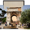 Triumphal Arch of Titus (circa 1890-1900 and 2011)