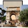 Triumphal Arch of Titus (circa 1890-1900 and 2011)