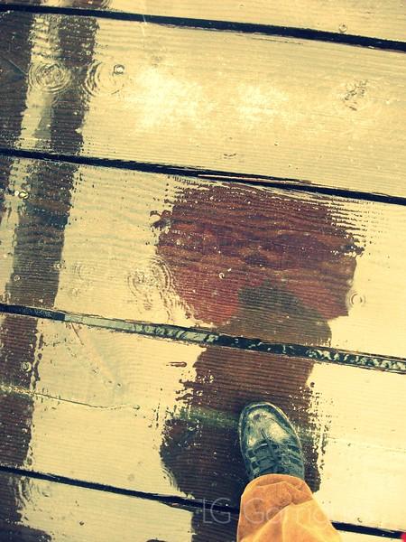 Foot in Rain