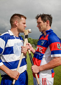 Newtonmore defender Norman Campbell faces Kingussie goal machine Ronald Ross