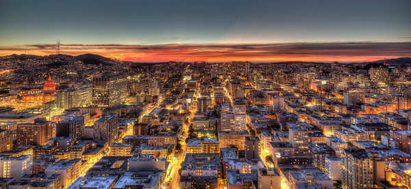 Twilight over San Francisco