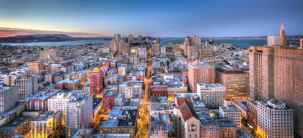 San Francisco Skyline, looking North
