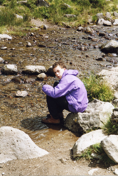 Alasdair at the Grande Cascade stream