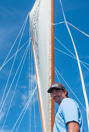 """I was a captain of a catamaran in Tahiti. But for only a few hours a day. I seized the chance to make long journeys on the open ocean, to explore and to reach people and tell them about what we are doing. One day every cargo ship you see out there will have a sail. Back to the future"" -  Captain Alex, Tahiti."