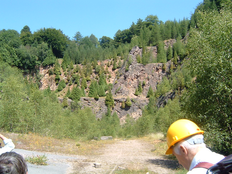 Shake Mantle Quarry - Lower Dolomite, Crease Limestone on left