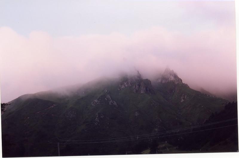 Puy de Sancy in the mist