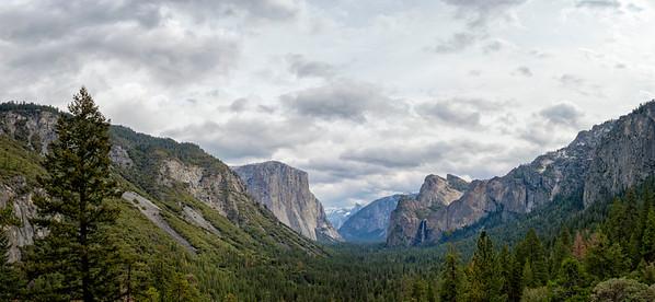 Tunnel View Storm Panorama - Yosemite-2