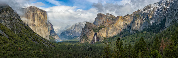 Tunnel View Storm Panorama - Yosemite-3