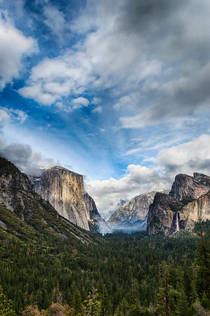 Tunnel View Storm - Yosemite-6