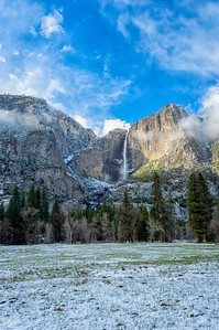 Yosemite Falls Snow - Yosemite