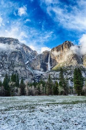 Yosemite Falls Snow - Yosemite-2