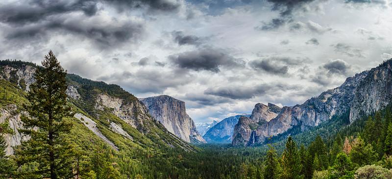 Tunnel View Storm Panorama - Yosemite